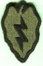 Vietnam era US Army 25th Infantry Division OD Subdued Green patch Cut Edge