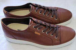 ECCO Men Soft 7 Sneaker Mahogany Size: 46 (US 12-12.5) - New