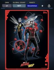Topps Marvel Collect Digital Antman And The Wasp Quantum Poster Award
