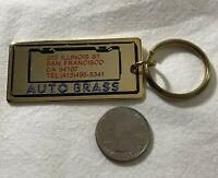 Auto Brass San Francisco California Gold Tone Keychain Key Ring #35857