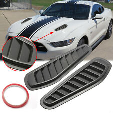 Black Front Air Flow Intake Hood Vent Bonnet Scoop Cover Trims For Ford Mustang