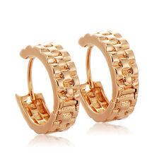 Vintage 14K Gold Filled Circle Girl Hoop Earring Wedding Ear  Gift Freeshipping