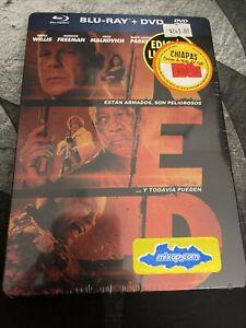 Red (Blu-ray Disc, 2011) Morgan Freeman,Bruce Willis Steelbook Brand New