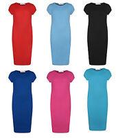 L168 Kids Midi Dress Girls Plain Bodycon Stylish Fashion  Dresses Age 5-13 Year