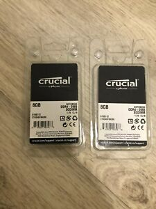 Lot of 2 Crucial 8GB DDR4-2666 SODIMM Memory RAM CT8G4SFRA266 16GB total NEW