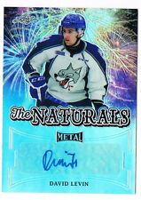 2015-16 Leaf Metal The Naturals Prismatic Autograph #TN-DL1 David Levin 2/25