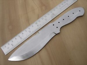 "8.50"" custom made hunting spring steel knife blank blade throwing letter opener"