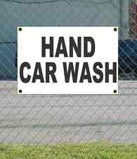 2x3 HAND CAR WASH Black & White Banner Sign NEW Discount Size & Price FREE SHIP