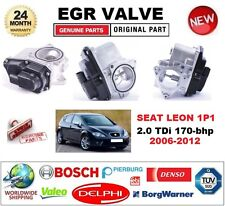 FOR SEAT LEON 1P1 2.0 TDi 170-bhp 2006-2012 Electric EGR VALVE 5-PIN OVAL PLUG