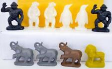 Ten vintage Mold A Rama animals Como park & Brookfield Zoo 5 each Lot 99