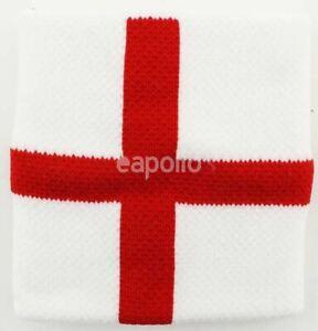 St George White Red Cross Pattern England Wristband Sweatband - Brand New