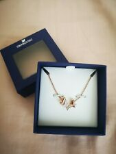 Swarovski Lilia Necklace, S Butterfly Rose Gold Plated Crystal Authentic 5459065