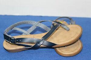 "BLOWFISH MALIBU ""BAKER"" Indigo Dyecut Thong Sandals Size 9 B"
