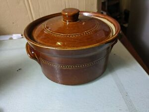 Vintage Pearsons Of Chesterfield Casserole Pot - Earthenware, Stoneware, Pottery