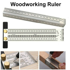 Ultra Precision Marking Ruler T Type Square Woodworking Scriber Measuring Tool