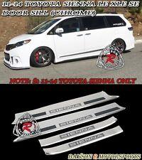 Side Door Sills (Chrome) Fits 11-14 Toyota Sienna