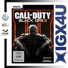 Call of Duty Black Ops 3 PC Game Key - COD 12 BO III Steam Download Code EU NEW
