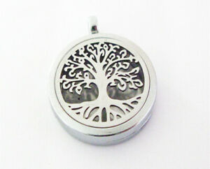 Wholesale Life Tree Aromatherapy Essential Oil Diffuser Locket Necklace Pendant