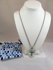 NWT BRIGHTON Your True Color Cross GRACEFUL Long Necklace Turquoise $108