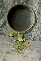 ITALIAN TOLE SWIVEL VANITY MIRROR FLORAL FRENCH FARMHOUSE CHIPPY RUSTY VINTAGE