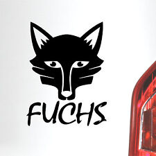 Auto Aufkleber Fuchs Fox Tier tuning sticker
