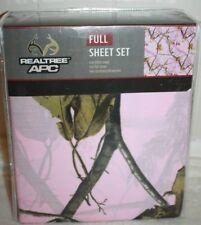 REALTREE Pink Camo Full Sheet Set ~ Girls Camoflauge Sheet Set Deep Pockets NEW