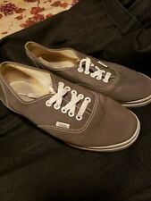 VANS GRAY LACE UP MENS 7.5  WOMENS 9 SHOES SKATE SKATEBOARDING SURFING