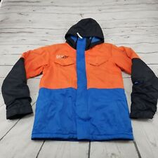 Burton Jacket Size L 14/16 Youth Dry Ride Chittagong Snowboarding Zip Up Hooded