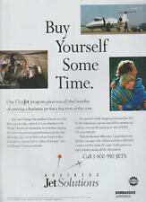 Bombardier Aerospace Business Jet Solutions Learjet 60 Magazine Ad 1998 Rare