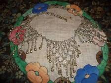 Vintage Bohemian Gypsy Belly Dancer's Kuchi Festoon Silver Necklace