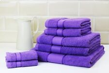 Striped Bright 100 Combed Cotton Soft Absorbant Purple Hand Towel