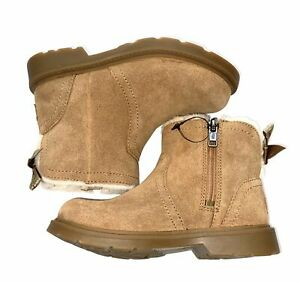 Ugg Australia girls Lynde zip boots in chestnut 11 NEW WITHOUT TAGS
