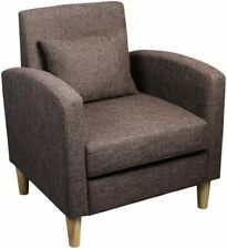 Modern Accent Fabric Chair Leisure Upholstered Arm Chair Single Sofa Couch Brown