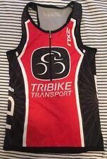 2XU Australia TRIBIKE Cycling Jersey Bicycle Half Zip Bike S/S SHIRT Women's L