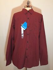 Columbia Men's Rapid Rivers II Long Sleeve Button Down Shirt Red Plaid Size L