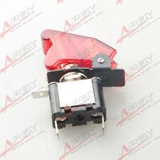 12v coche de carreras En Off Aviones Tipo Led Rojo interruptor de palanca Control Flip Cover Roja