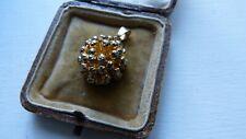 Fine rare 1950s Danish FLORA DANICA organic pendant Gold on Sterling Silver