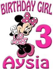 Personalize Custom Minie Mickey Mouse Birthday T Shirt Party Gift with Name Age