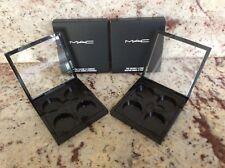 Set of 2  MAC Pro Palette 4 Quad Eye Shadow Empty Case Compact + Refill Insert