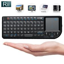 Rii Mini Wireless Keyboard with Backlit + Laser Pointer for Smart TV PC Kodi PS4