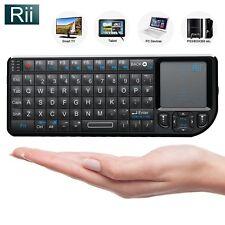 Rii Mini Wireless Keyboard with Backlit + Laser Pointer for Smart TV PC Kodi PS4