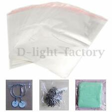100x A4 Clear Cellophane Cello Display Bags Self Sealable Peel Seal Plastic OPP
