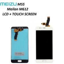 "LCD DISPLAY PER MEIZU M5S MEILAN M612H TOUCH SCREEN SCHERMO BIANCO 5.2"" WHITE"