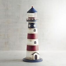 """Pier 1 Imports 4th of July Patriotic Nautical Lighthouse 16"""""""