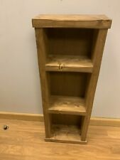 Industrial style reclaimed wood Rustic SHELF Floor Standing Unit handmade