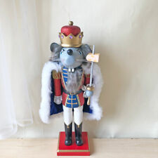 Mouse King Wooden Nutcracker Home Decor Walnut Soldier Christmas Ornament Gifts