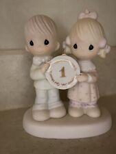 Precious Moment Wedding 1-year Anniversary Figurine E-2854 Great Condition
