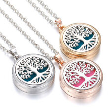 Aromatherapy Essential Oil Diffuser Necklace Tree of Life Locket Pendant