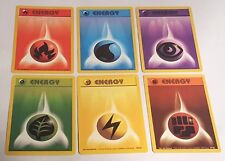 6 x Original Pokemon Base Set Energy Cards - Near Mint Condition
