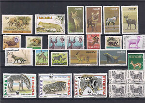 Range of Wild Animal Stamps all V/F MNH including Part Sheets 4 x Scans